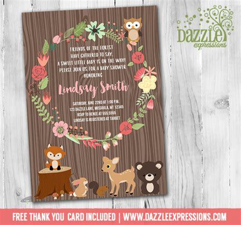 free printable birthday invitations woodland printable woodland baby shower invitation floral wreath