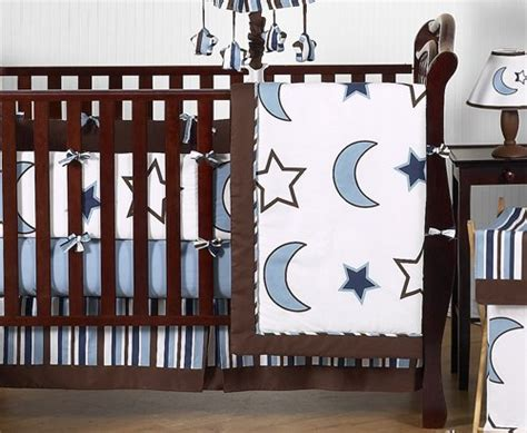 Baby Boy Crib Bedding Sets Modern Modern Blue And White And Moons Baby Boy Bedding 9pc Crib Set Baby Shop