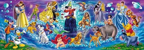 Best Terlaris Puzzle Jigsaw Disney Princess Panorama 1000 Pcs Sni clementoni jigsaw puzzles disney family jigsaw puzzle at