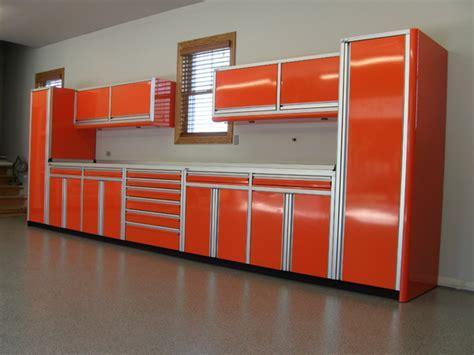 Garage Cabinets With Roll Up Doors Roll Up Door Wide Corner Set Of Aluminum Cabinets