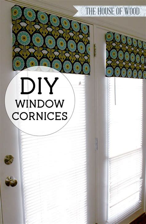 Make Your Own Cornice Make Your Own Diy Window Cornices Out Of Foam Fabric