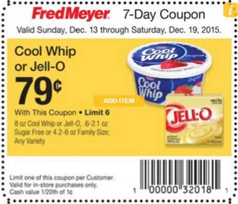 cool whip coupons cool whip only 60 at fred meyer with rare coupon stack deal