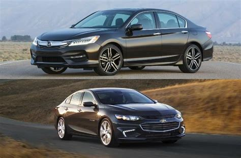 chevy malibu vs honda accord 2017 2017 honda accord vs 2017 chevrolet malibu to