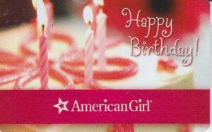 American Girl Gift Cards - gift card happy birthday american girl united states of america american girl
