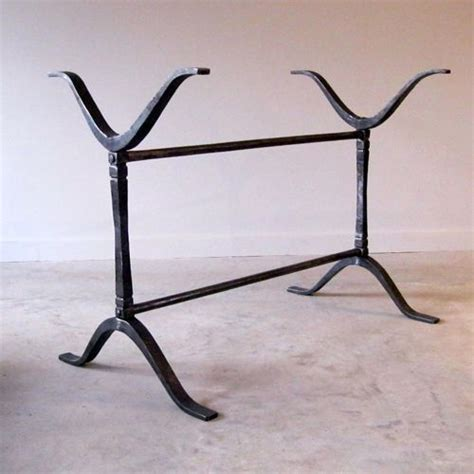 wrought iron wishbone trestle table base built to suit