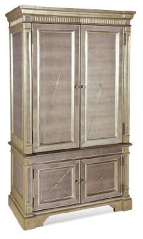 Mirrored Wardrobe Armoire by Bassett Mirror Borghese Mirrored Armoire 8311 567