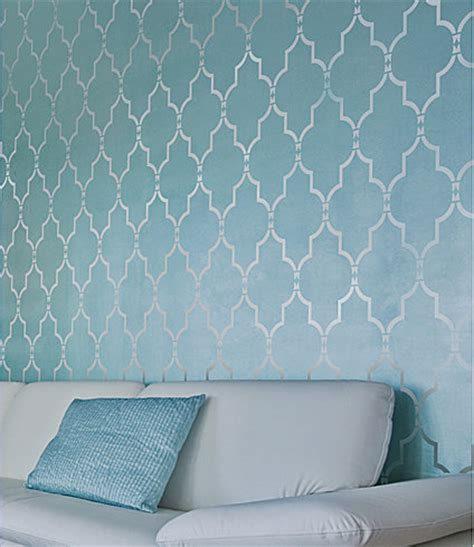 marrakech trellis wall stencil long reusable stencils for