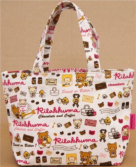 Rillakuma Bag Canvas Jinjing Pink accessories