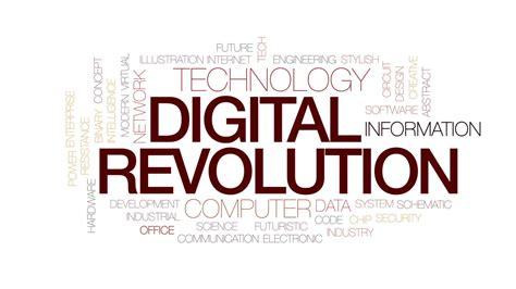 Digital Revolution digital revolution animated word cloud text design