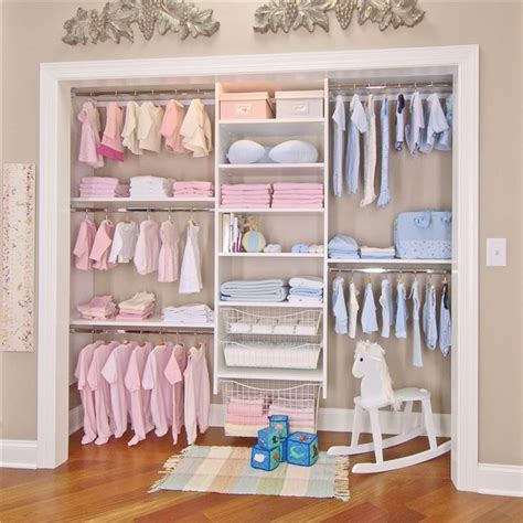 Easy Closet Solutions by Closet Works Simple Closet Systems Designed To Your Style Baby Room Closet