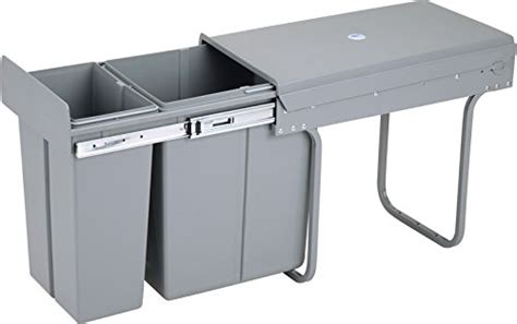 in cabinet trash can with lid kitchen cabinet pull out trash can with lid 30 l 8 gal 30 l 8 ebay