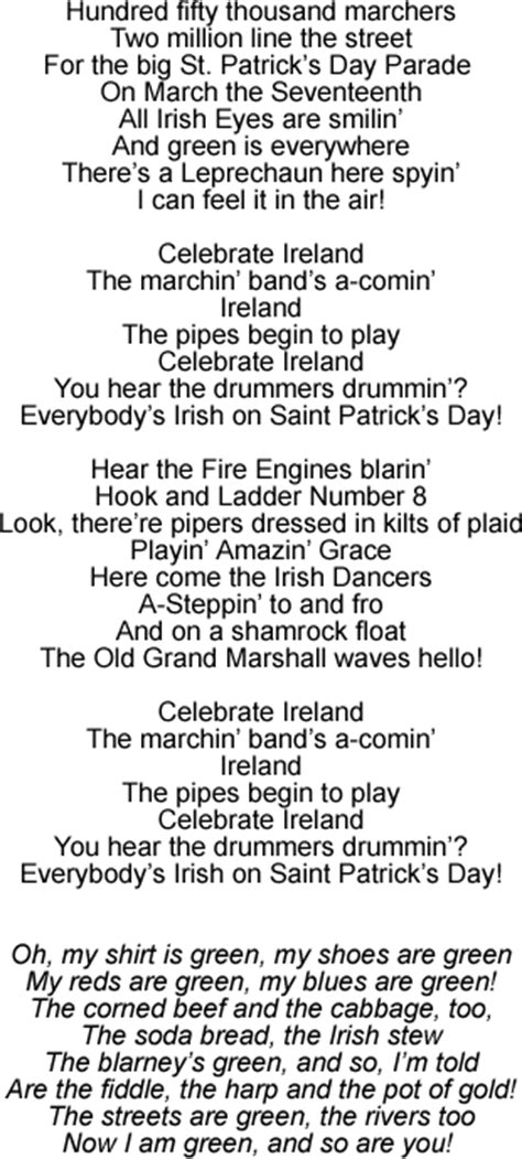 s day lyrics st s day song everybody s on st s day
