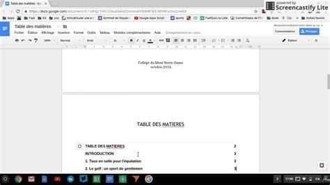 1549523821 comment etre numero sur google table des mati 232 res avec les num 233 ros de pages avec google