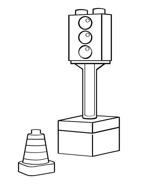 traffic light coloring page az coloring pages