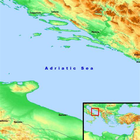 adriatic sea map bible map adriatic sea