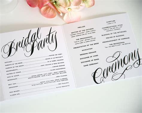 diy tutorial free printable folded wedding program boho weddings