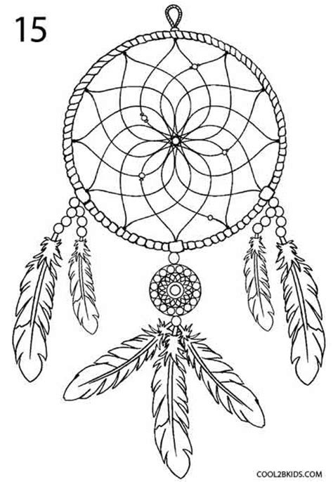 coloring pages for adults catcher how to draw a dreamcatcher step 8 drawing ideas
