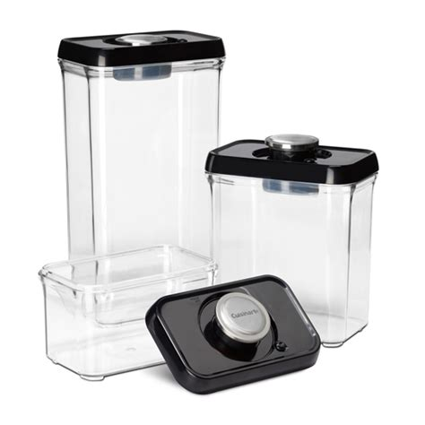 Vacuum Sealed Food Shelf by Cuisinart Fresh Edge Vacuum Seal Food Storage Sets