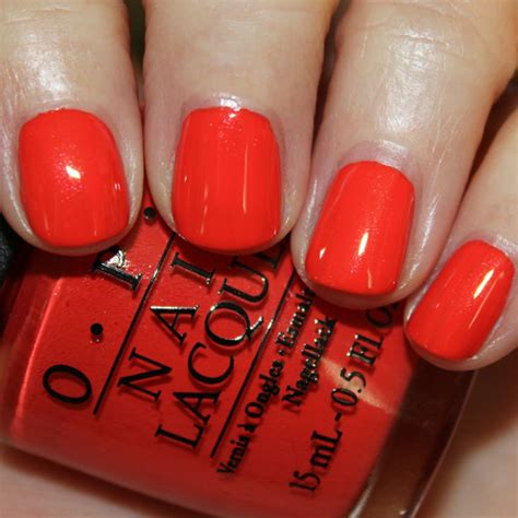 My Paprika Is Hotter Than Yours opi centrale collection for summer 2013 swatches review vy varnish
