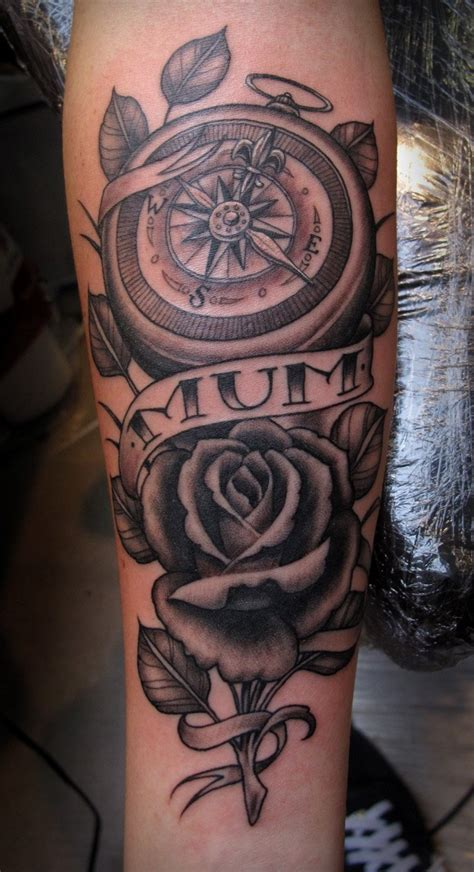 rose tattoo ideas compass tattoos designs ideas and meaning tattoos for you
