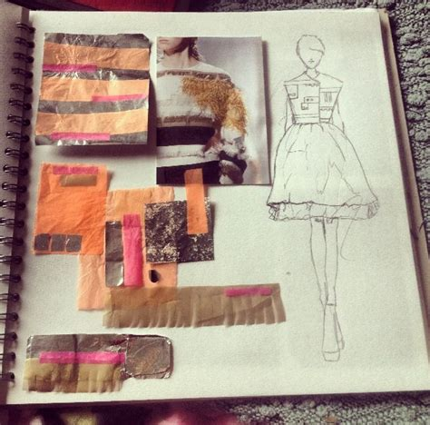 design inspiration textiles exles sketchbook layout untraditional material sle and