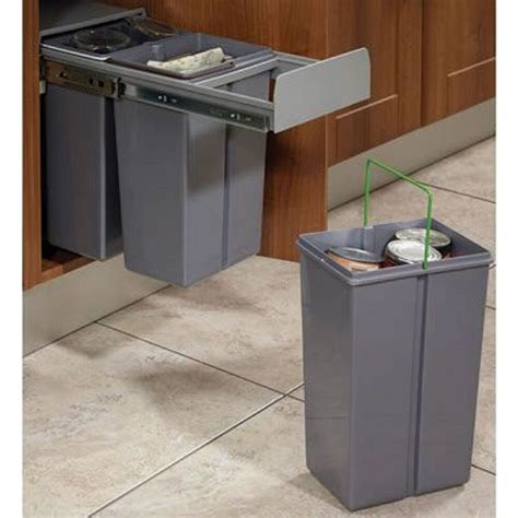 In Cupboard Bins by Recycle Bin Pull Out Kitchen Cupboard Cabinet Waste Bin