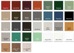color of metals premier loc standing seam metal roof color premier metals