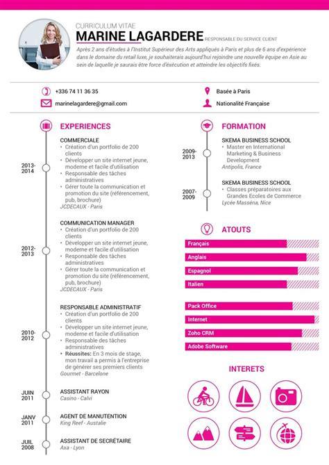 Forme De Cv En Francais by 17 Meilleures Id 233 Es 224 Propos De Mod 232 Le De Cv Sur