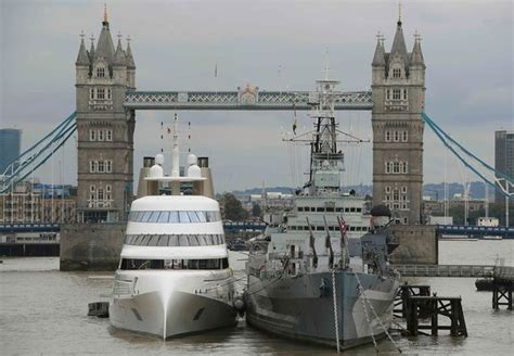 russian tycoon bombproof superyacht on the river thames the 163 225m palace on the water one of the world s largest