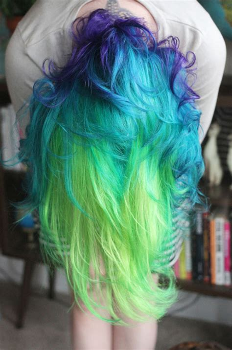 rainbow pastel hair    trend  women bored panda