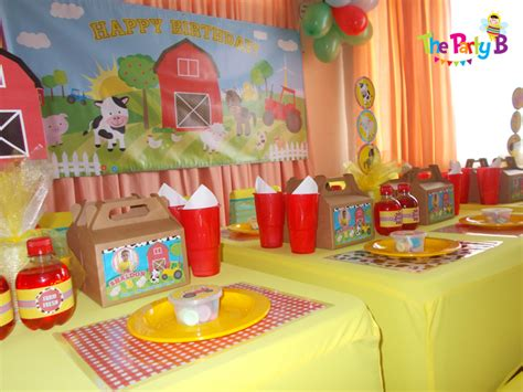 themed party equipment hire farm themed party cape town the party b kids party set