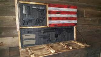 Gun Cabinet Hardware Burnt American Red White And Blue Large Concealment Flag