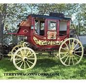 Stagecoach Antique Chuck Wagon Horse Drawn Wells Fargo
