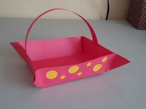 How To Make A Construction Paper - how to make a construction paper basket ep