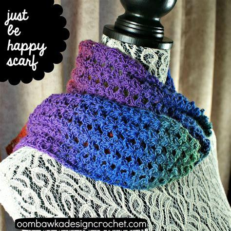 just be happy scarf allfreecrochet