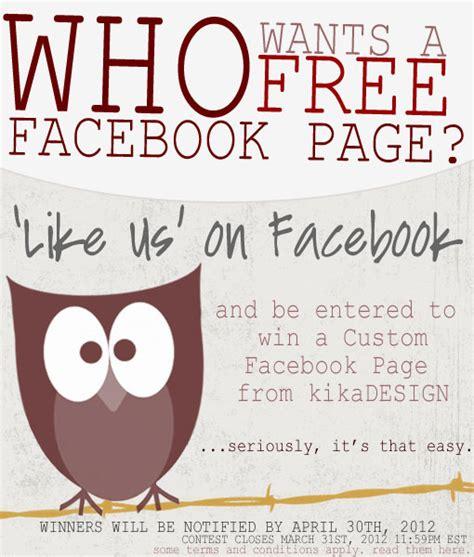 website design contest rules kikadesign facebook contest kikadesign