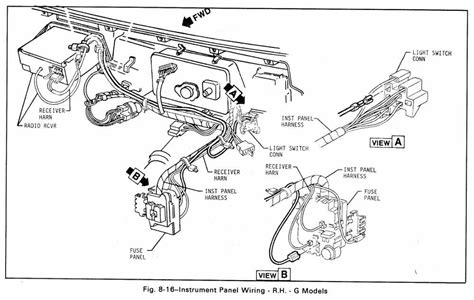 gmc truck parts diagram instrument panel wiring diagram g models for 1979 gmc