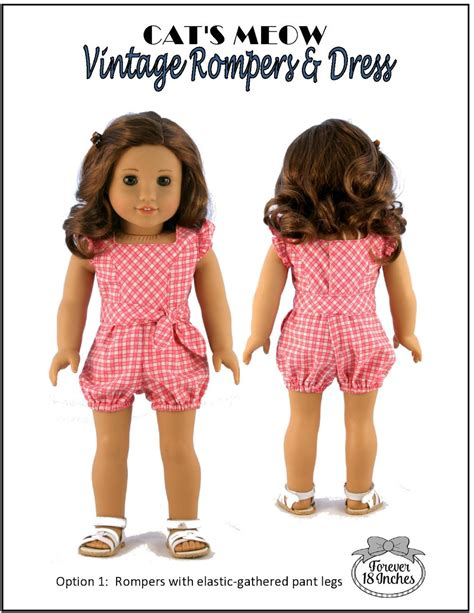 Jumpswuit Meow Forever 18 Inches Cat S Meow Vintage Rompers Dress Doll
