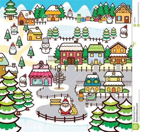 Pueblo Style House Plans christmas town stock images image 16290834