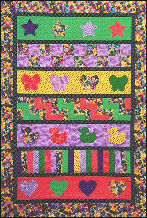 Row By Row Quilt Patterns Free by Row By Row Easy Beginner S Baby Quilt Pattern