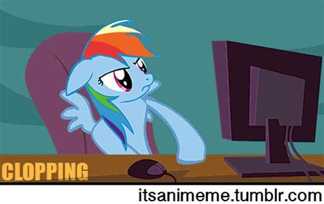animeme rainbow dash clopping richard beymer gif find on giphy