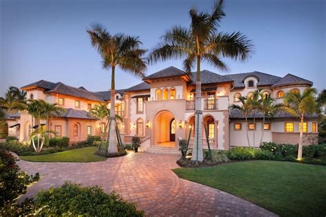 stunning waterfront mansion in naples florida