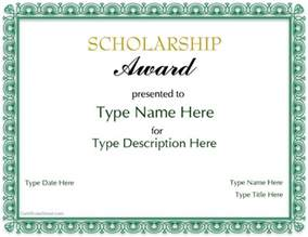 Scholarship Award Template by Special Certificate Scholarship Award