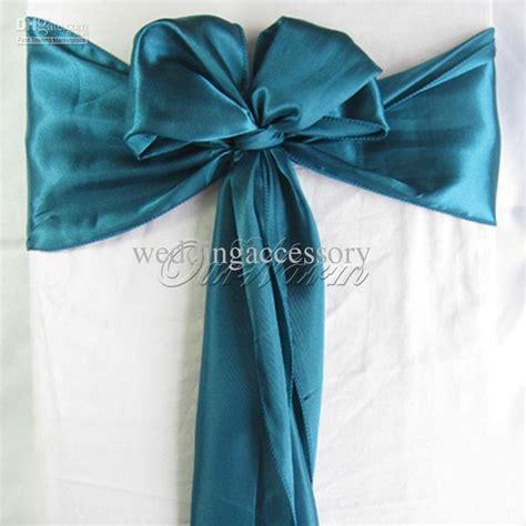teal green chair sashes 100 teal blue satin chair sash wedding supply