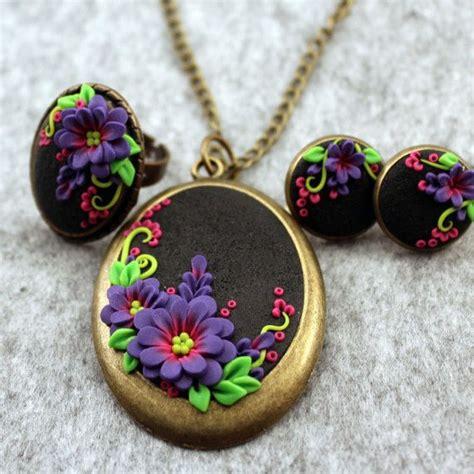 Cercei Handmade - polymer clay set bijuterii pandantiv inel cercei