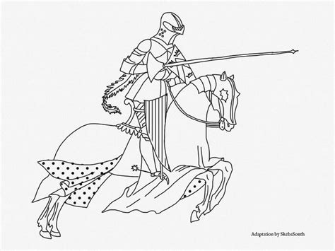 coloring pages knights jousting pin by barb skebasouth on vintage color pages for you