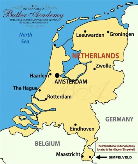 netherlands borders map the international butler academy the netherlands