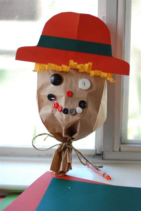 Scarecrow Paper Craft - 291 best paper bag crafts images on kid