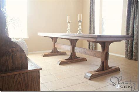 Diy Pedestal Dining Table diy dining table pedestal farmhouse shanty 2 chic