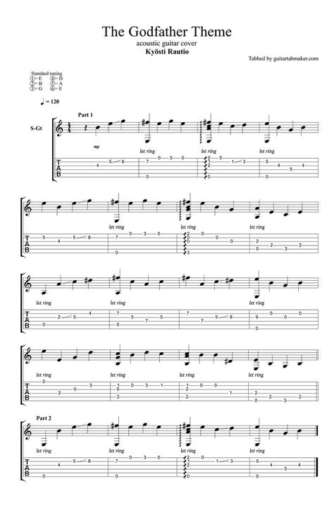 guitar fingerstyle tutorial pdf fingerstyle tutorial godfather theme the godfather theme